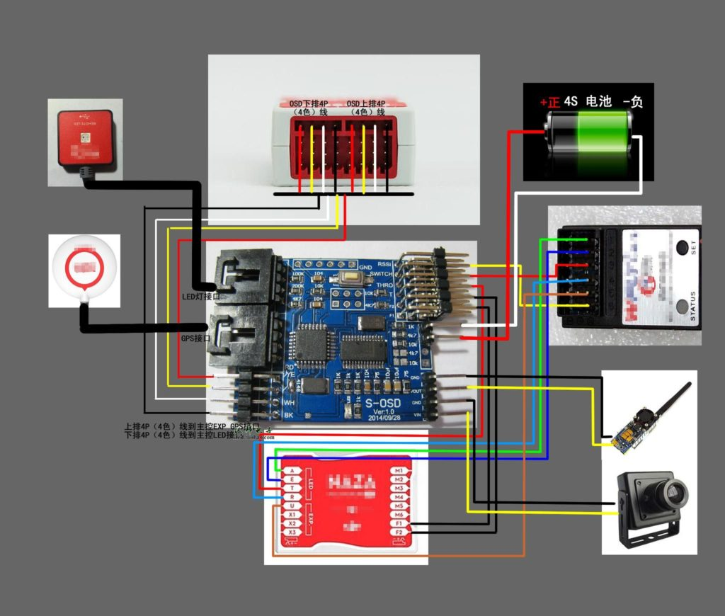 S-OSD iOSD Remzibi OSD Module for DJI NAZA GPS